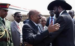 Shugaban kasar Sudan, Omar Albashir (hagu) da shugaban kasar Sudan ta Kudu Salva Kiir (dama)