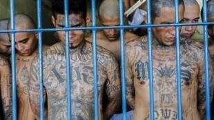Foto de la Secretaría de Prensa del Presidente Nayib Bukele, mostrando las operaciones de seguridad en las cárceles del país.