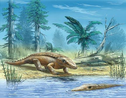 И какой-то сказкой чудной, // Нарушителем гармоний, // Крокодил сверкал у судна // Чешуёю изумрудной // На серебряном понтоне.