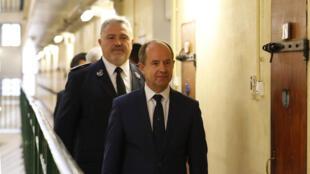 Le ministre français de la Justice, Jean-Jacques Urvoas, le 20 septembre 2016 à la prison de Fresnes.