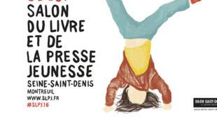 Affiche du Salon du Livre et de la Presse Jeunesse de Montreuil 2016.