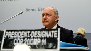 Laurent Fabius, France's foreign minister, at climate change talks on 1 June 2015, at UNFCCC headquarters in Bonn, Germany.