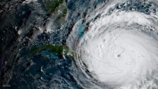 El huracán Irma en su paso al este de Cuba el 8 de septiembre de 2017.