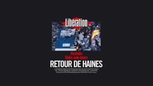 Capa do jornal francês Libération desta terça-feira, 18