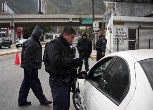 Opération de police à Monterrey au Mexique (Image d'illustration).