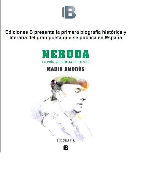 """La portada del libro """"Neruda ,el príncipe de los poetas"""""""