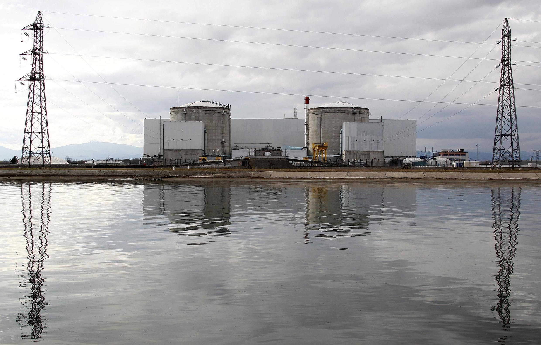 法國費森海姆Fessenheim核電廠  2011年3月14日照片
