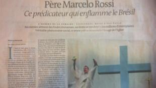 Jornal francês destaca presença do Padre Marcelo Rossi no cenário religioso brasileiro.