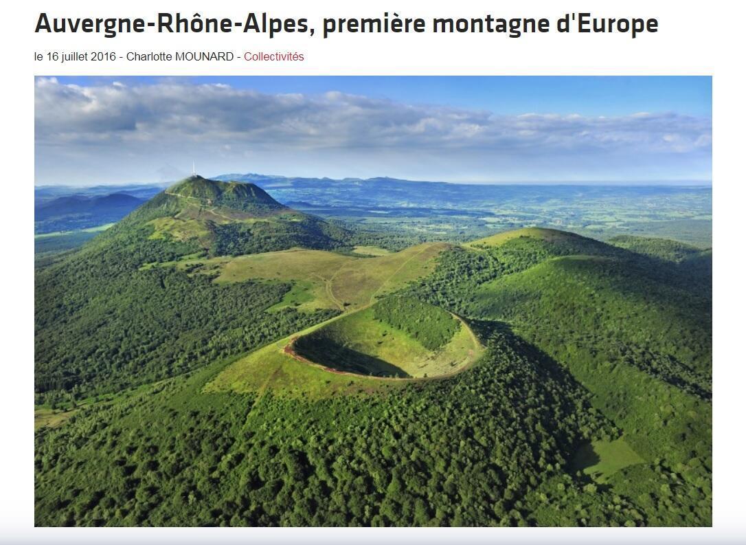 Dãy núi lửa Puy vùng Auvergne, miền trung nước Pháp.