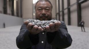 L'artiste chinois Weiwei, le 10 octobre 2010 à Londres.