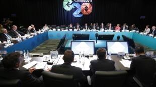 Cúpula do G20 na Austrália que terminou neste domingo (16) em Brisbane, Austrália.