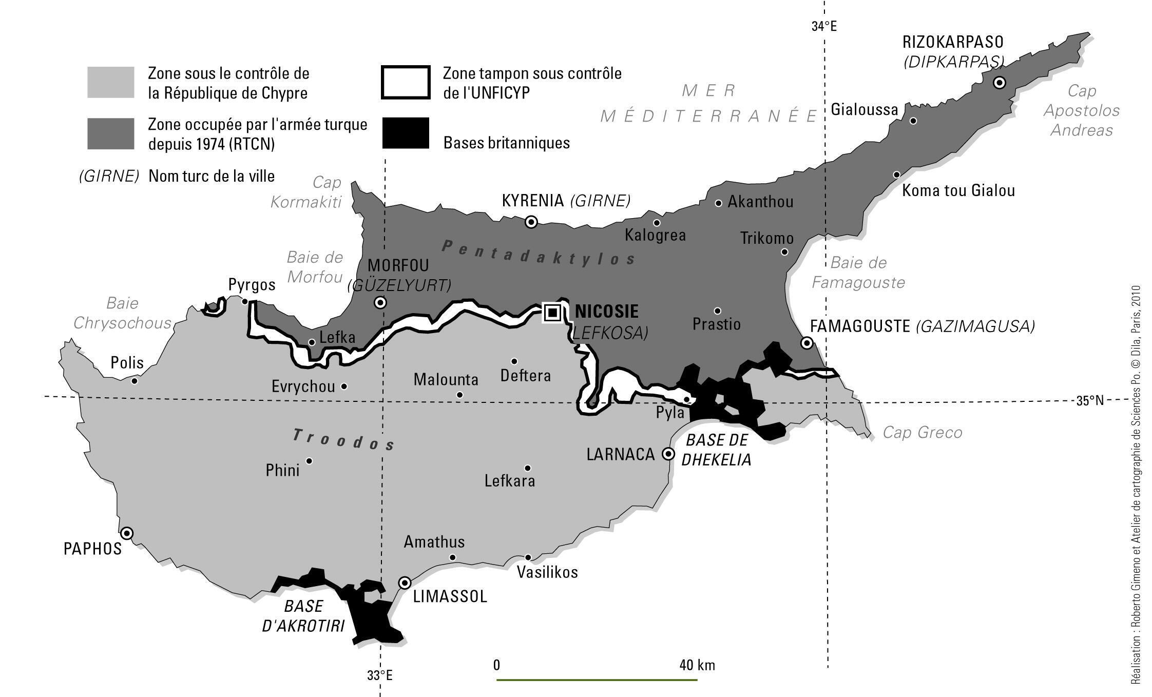 نقشه تقسیم قبرس
