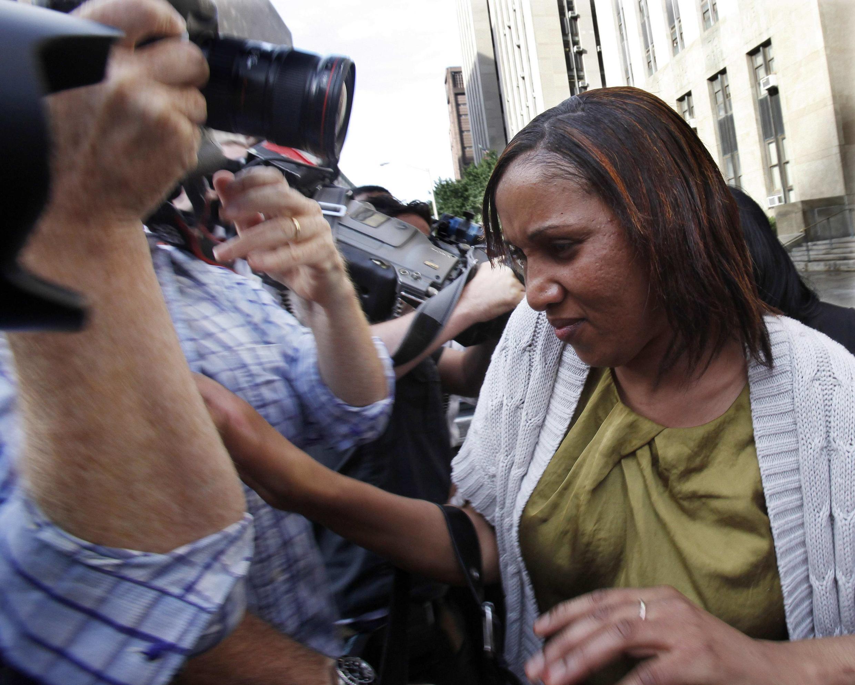 Nafissatou Diallo, presunta víctima de Dominique Strauss-Khan, el 27 de julio en Nueva York.