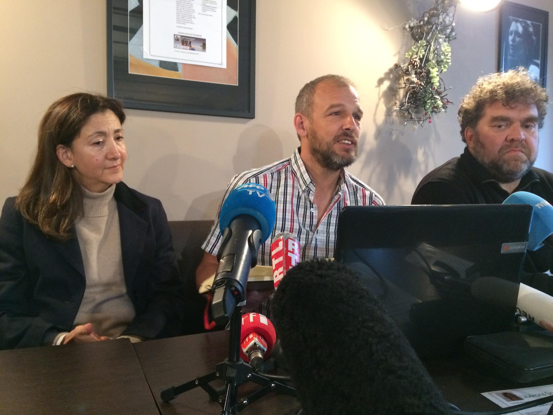 Sébastien Chadaud-Pétronin with former FARC hostage Ingrid Betancourt,14 December 2018