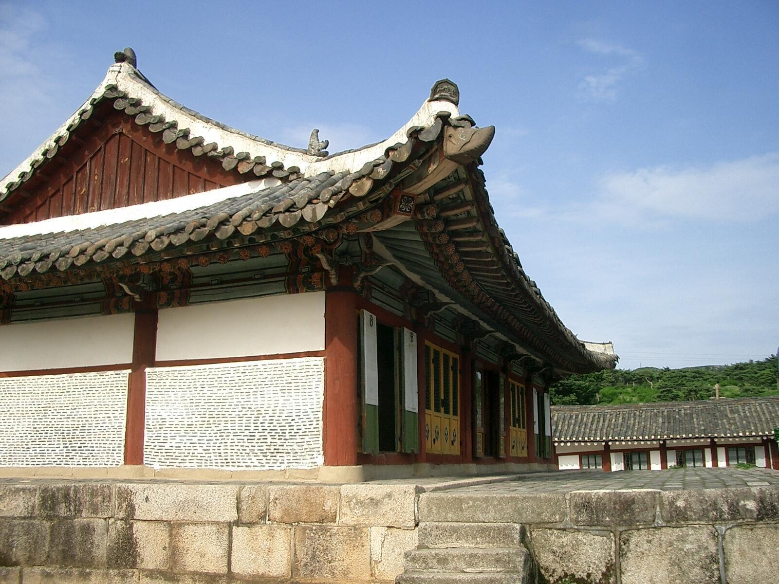 L'académie Koryo Songgyungwan  à Kaesong (Corée du Nord), inscrite au patrimoine mondial de l'Unesco.