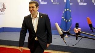 Le Premier ministre grec Alexis Tsipras après le sommet de Bruxelles des dirigeants de la zone euro sur la Grèce, le 22 juin 2015.