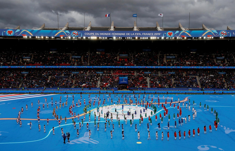 Lễ khai mạc Cúp thế giới bóng đá nữ - Women's World Cup FIFA - trên sân vận động Parc des Princes ngày 09/06/2019.