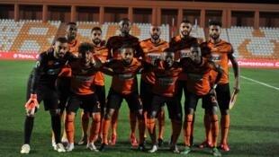 L'équipe de la RS Berkane, le 8 mars 2020 avant le match face à Al Masry.