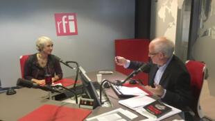 Nathalie Heinich et Pierre-Edouard Deldique en studio à RFI.
