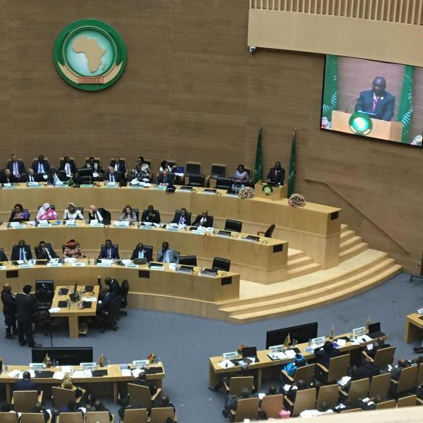 President Cyril Ramphosa speaks for the first time as this year's Chair of the AU in Addis Ababa, Ethiopia on 9 February 2020