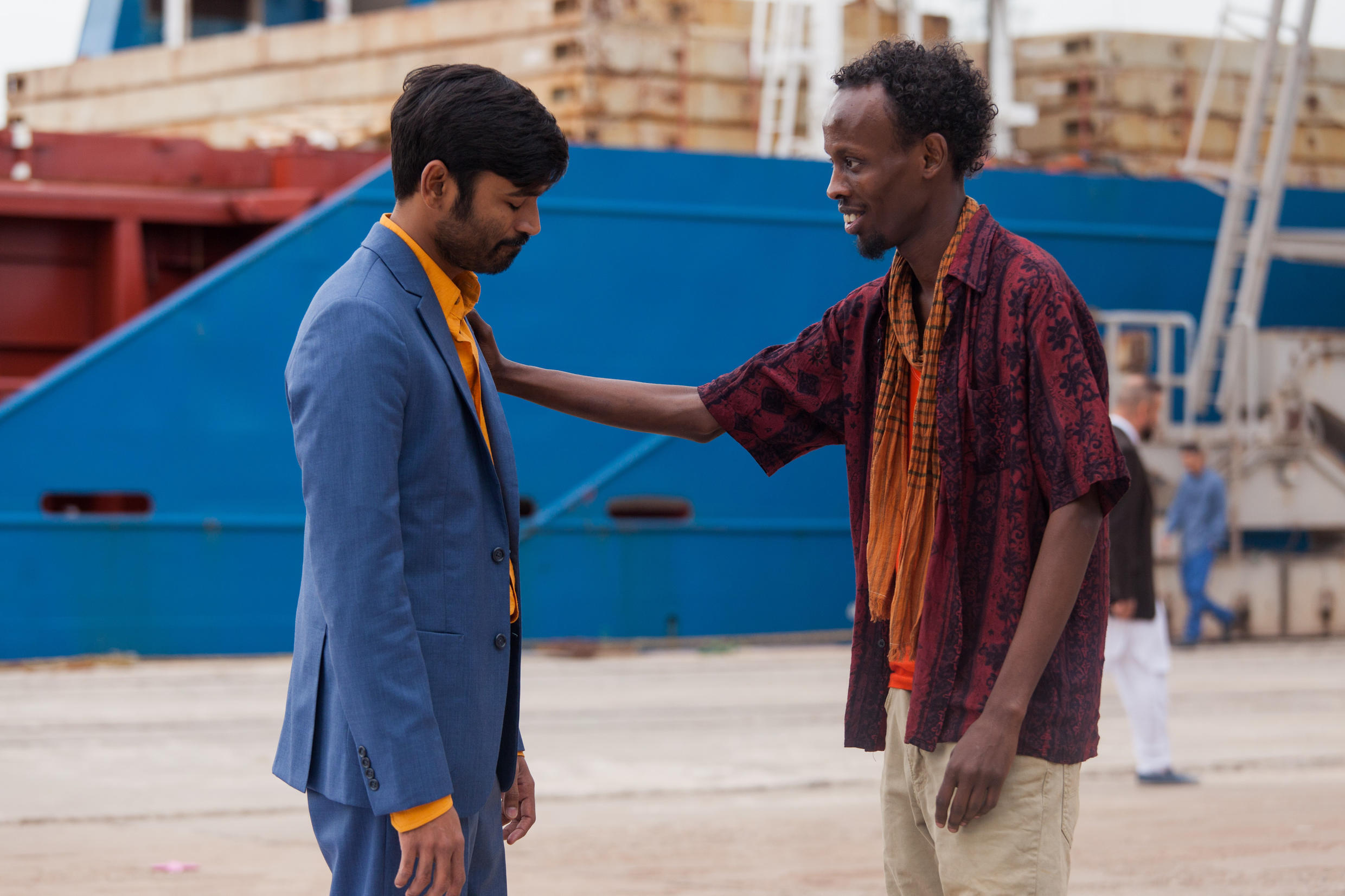 Indian Tamil actor Dhanush and Somali actor Barkhad Abdi share migrant woes and joys in Ken Scott's The Fakir's Extraordinary Voyage, Le Voyage Extraordinaire du Fakir