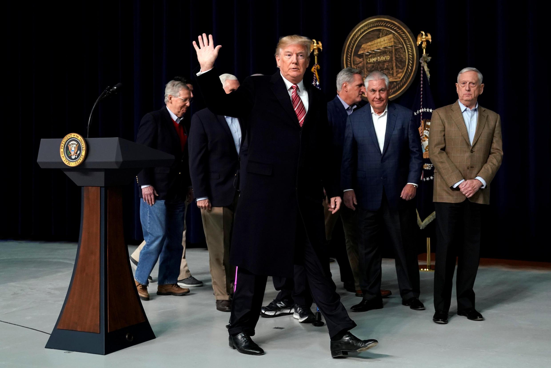 El presidente de EEUU, Donald Trump, en su residencia en Camp David, Maryland, EEUU, el 6 de enero de 2017.