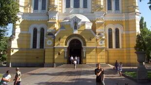 La cathédrale Saint-Volodymyr de Kiev, siège de l'Eglise orthodoxe d'Ukraine.