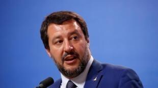 O vice-primeiro ministro italiano, Matteo Salvini.