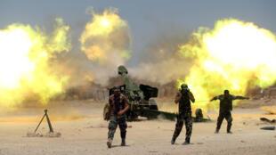 Dakarun Iraqi na harba atilare akan IS a Falluja