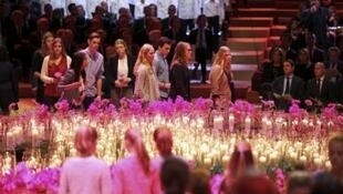 1600 человек приняли участие в церемонии памяти жертв авиакатастрофы МН17 под Донецком, Амстердам, 10 октября 2014.