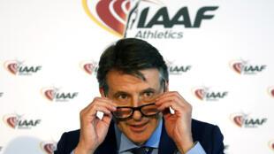 The IAAF president Lord Coe