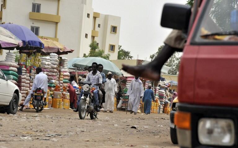 The market in Chad's captial  N'djamena