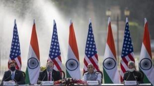 Le secrétaire d'État et le ministre américain de la Défense étaient en visite officielle en Inde ce mardi, pour une rencontre bilatérale avec le ministre de la Défense et le ministre des Affaires étrangères en Inde.