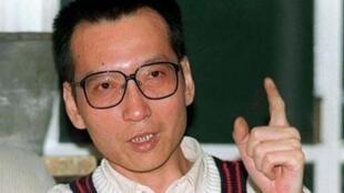 中國著名異議人士、零八憲章的起草人之一劉曉波。