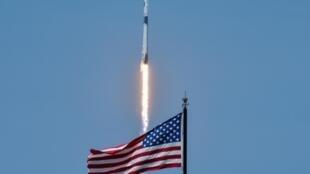 La fusée SpaceX décolle du centre spatial Kennedy à Cap Canaveral le 30 mai 2020.