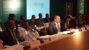 Patrice Trovoada, primeiro-ministro são-tomense na Conferência STeP IN em Londres