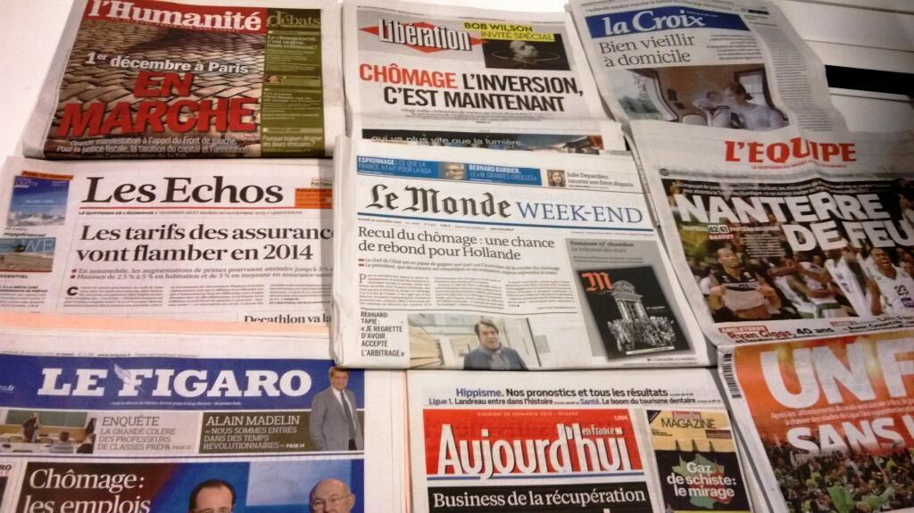 Diários franceses  29/11/2013