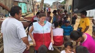 Une brigade médicale de volontaires à Chamanga., Equateur.
