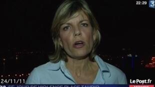 A jornalista Caroline Sinz informou ao vivo ter sofrido uma agressão sexual na praça Tahrir.