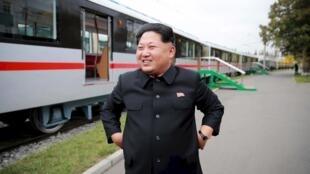 朝鮮半島局勢因北朝鮮稱其試爆成功一枚氫彈而驟然緊張 圖為朝鮮領導人金正恩