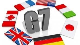 """""""گروه ٧"""" G7، شامل کشورهای آمریکا، بریتانیا، فرانسه، آلمان، ایتالیا، ژاپن و کانادا میباشد."""