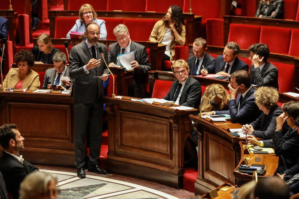 French prime minister Edouard Philippe addresses the National Assembly, 24 September 2019.
