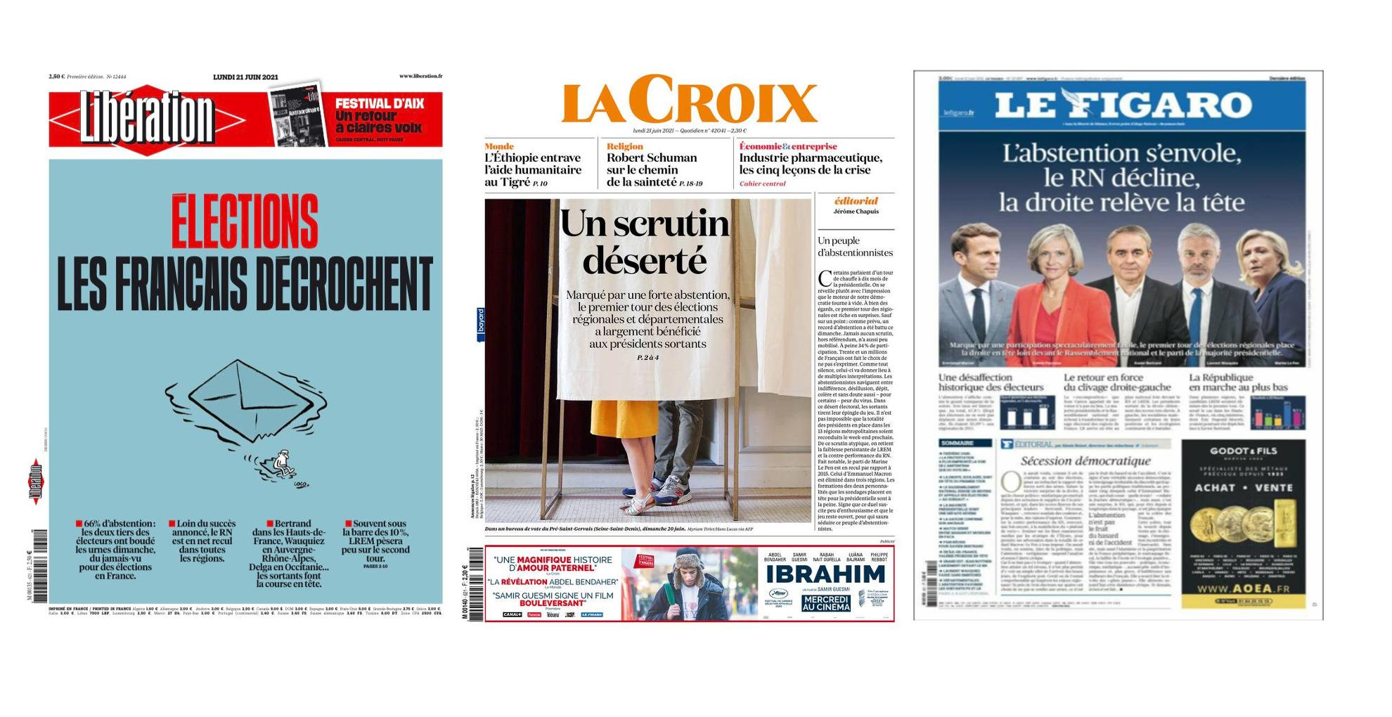 Une Presse française élections régionalesOK