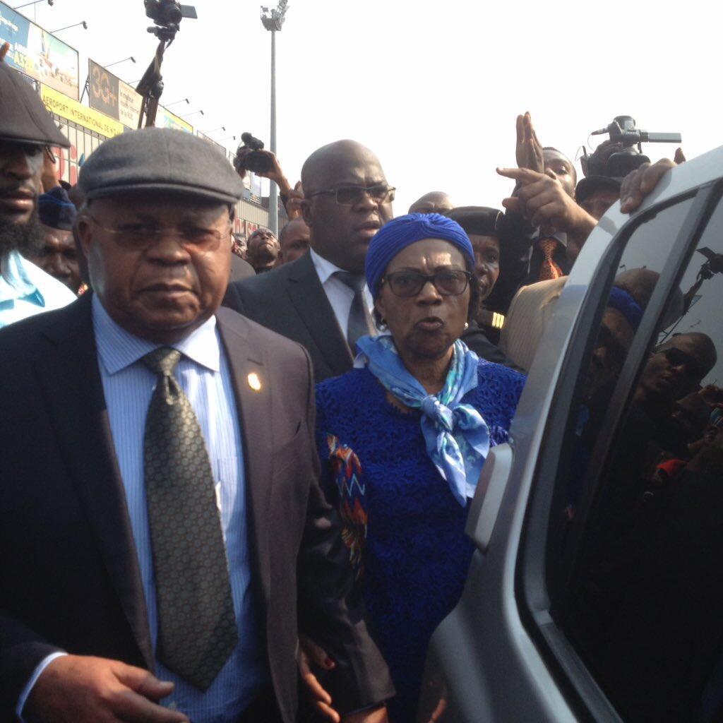 Etienne Tshisekedi lors de son retour à Kinshasa, RDC, le 27 juillet 2016.