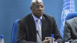 Le Sénégalais Abdoulaye Bathily, médiateur de l'ONU, à Bujumbura le 23 juin 2015.