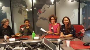 De gauche à droit, Anna-Maria Merlo Poli, Vaiju Naravane, Emmanuelle Bastide et Paola Martinez Infante