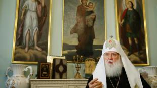 Đức thượng phụ Filaret, người muốn Giáo Hội Ukraina được độc lập. Ảnh 28/09/2018.