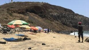 C'est sur cette plage de Dakar que doit être construite la station de pompage de l'usine de dessalement.