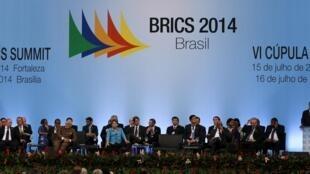 Открытие саммита БРИКС в Форталезе (Бразилия) 15/07/2014