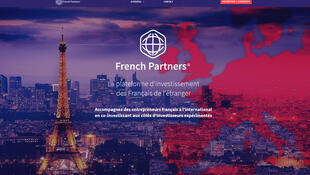 La page d'accueil du site French Partners.